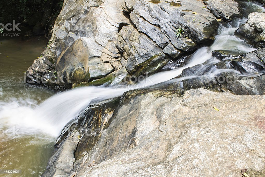 Tad Mork Water Fall in Maerim , Chiangmai Thailand royalty-free stock photo