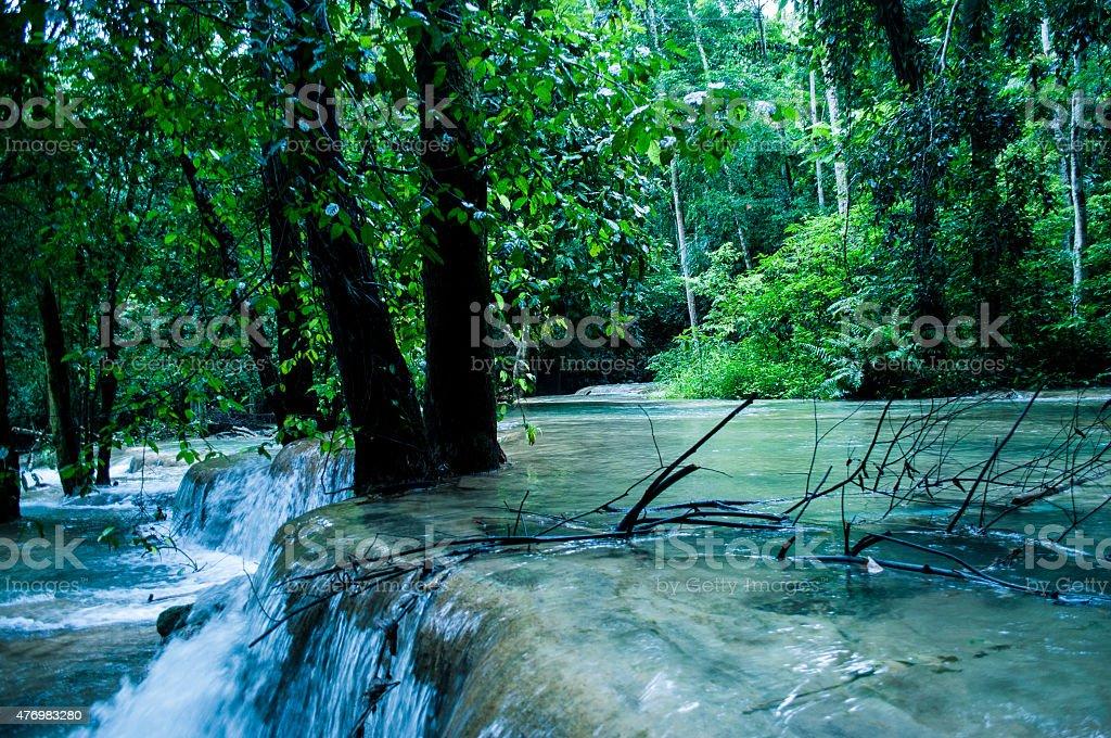 Tad Sae Waterfall stock photo