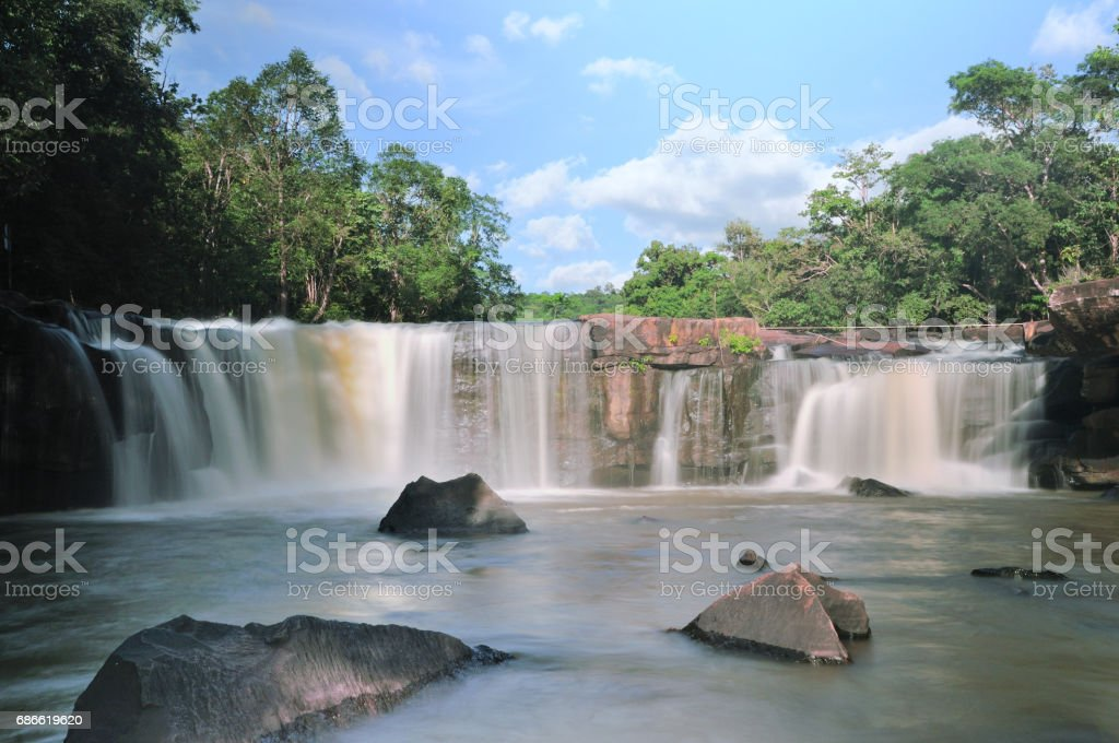 Tad Ton Waterfall royalty-free stock photo
