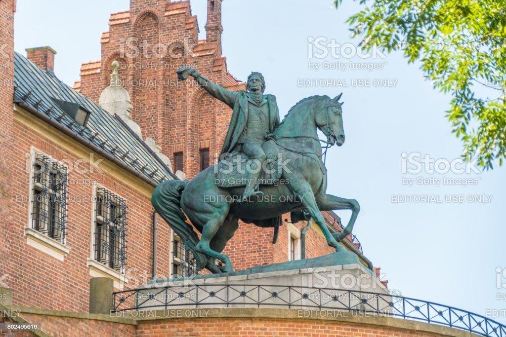 Tadeusz Kosciuszko monument stock photo