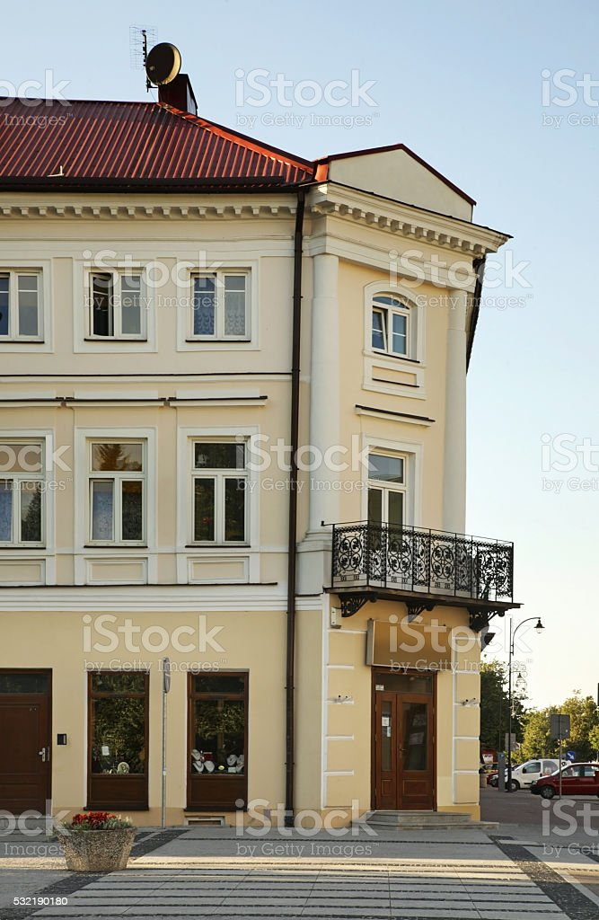 Tadeusz Kosciuszko street in Suwalki. Poland stock photo