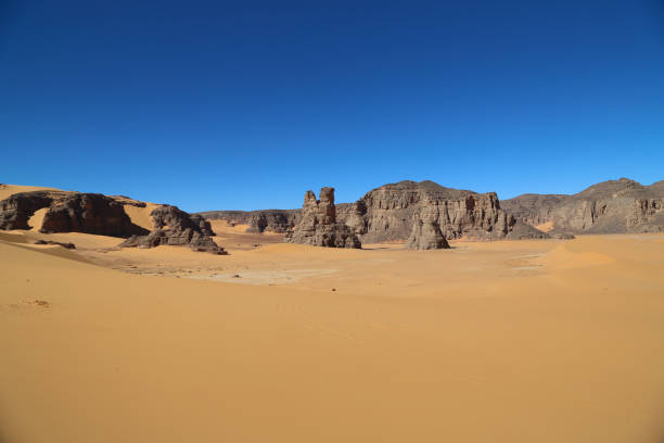 tadrart algeria - algeria stock photos and pictures