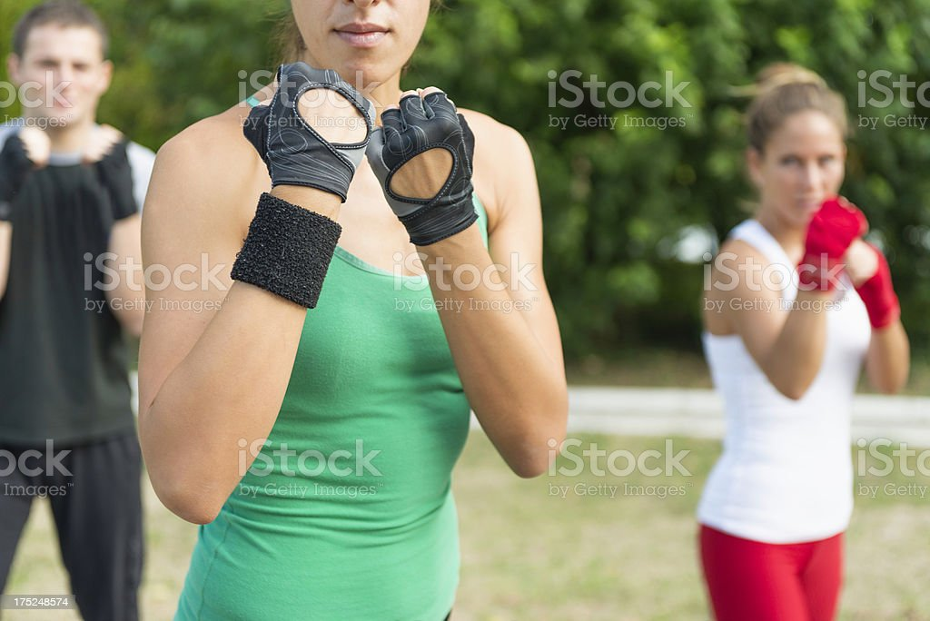Tae Bo Guard royalty-free stock photo