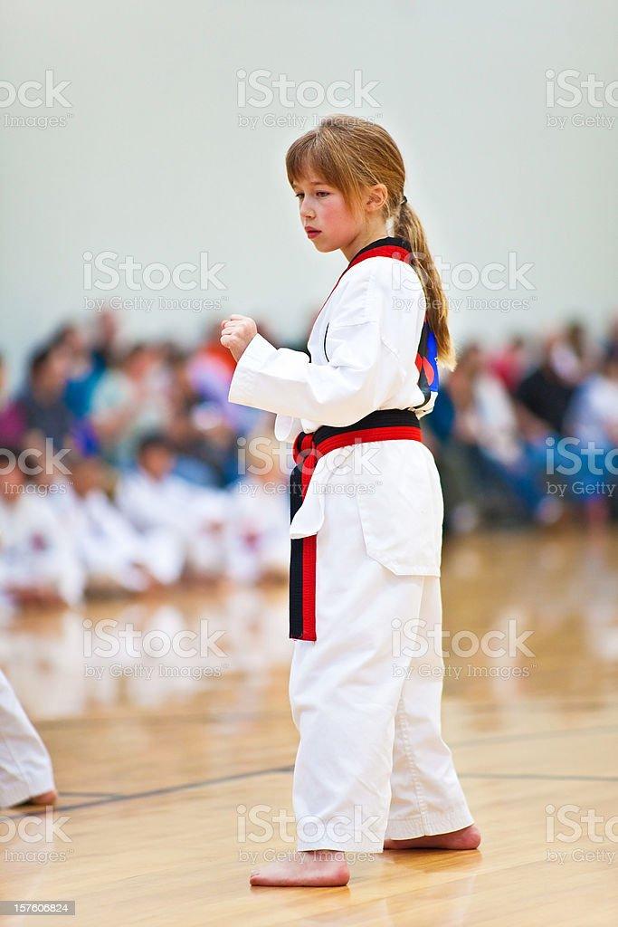 Tae Kwon Do Girl stock photo