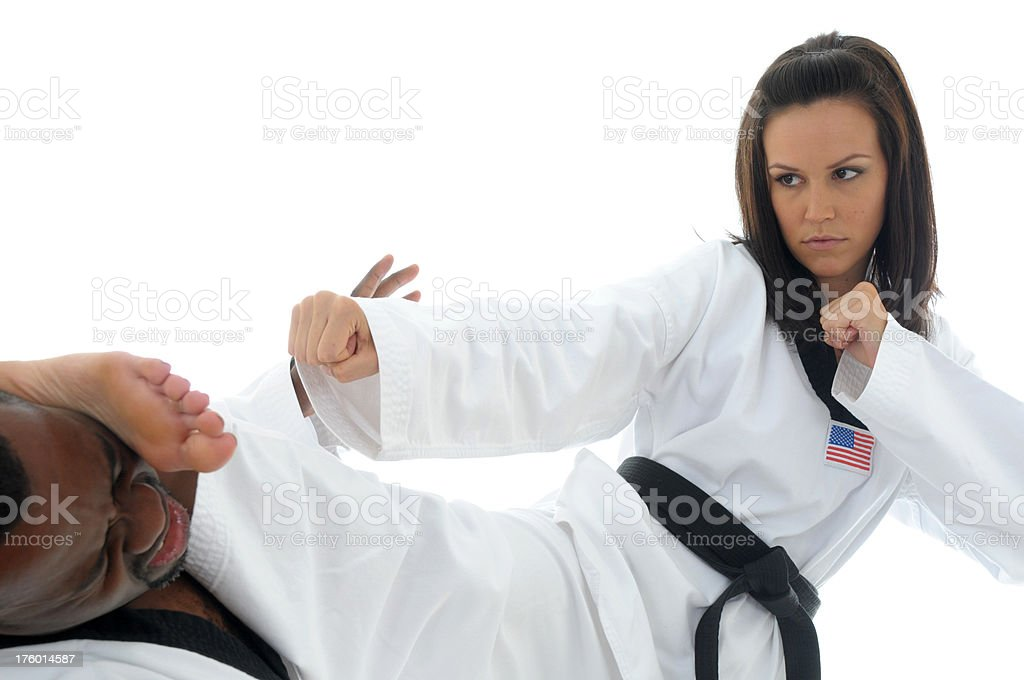 Tae Kwon Do KO stock photo