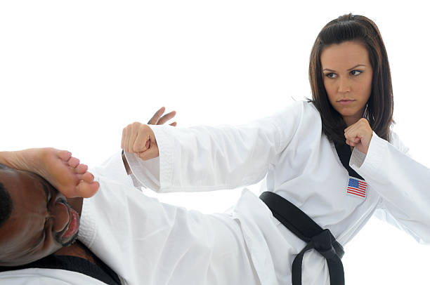 tae kwon do ko - karate stock photos and pictures