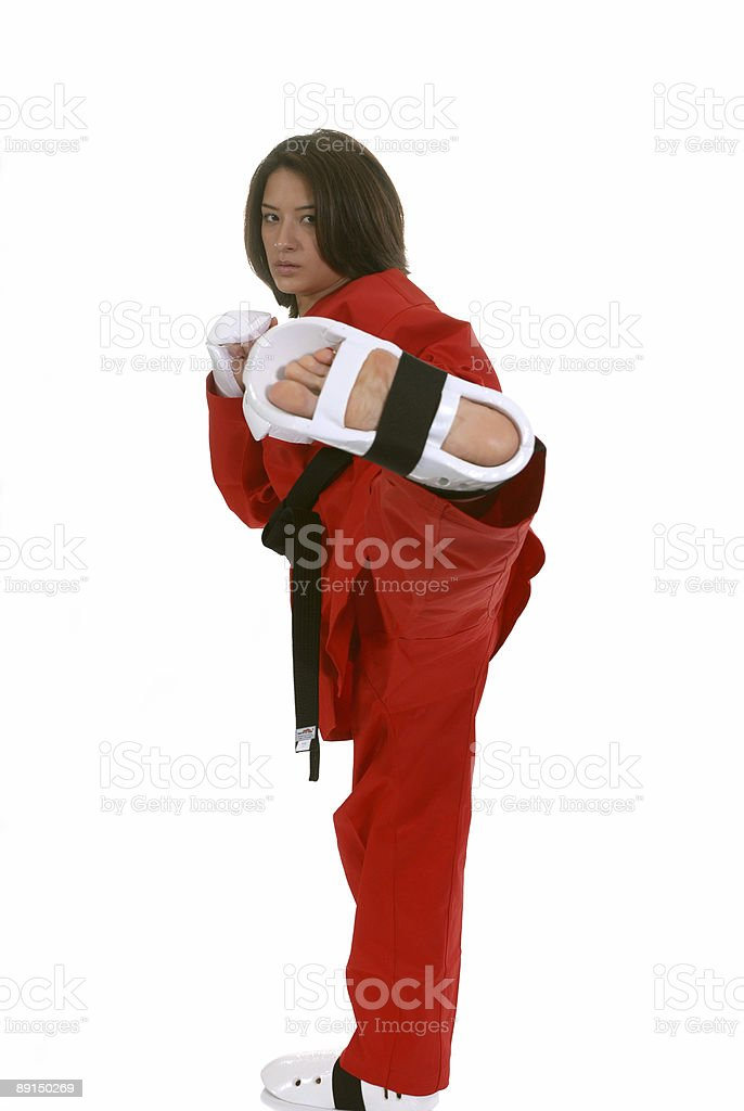 Tae Kwon Do point sparring royalty-free stock photo