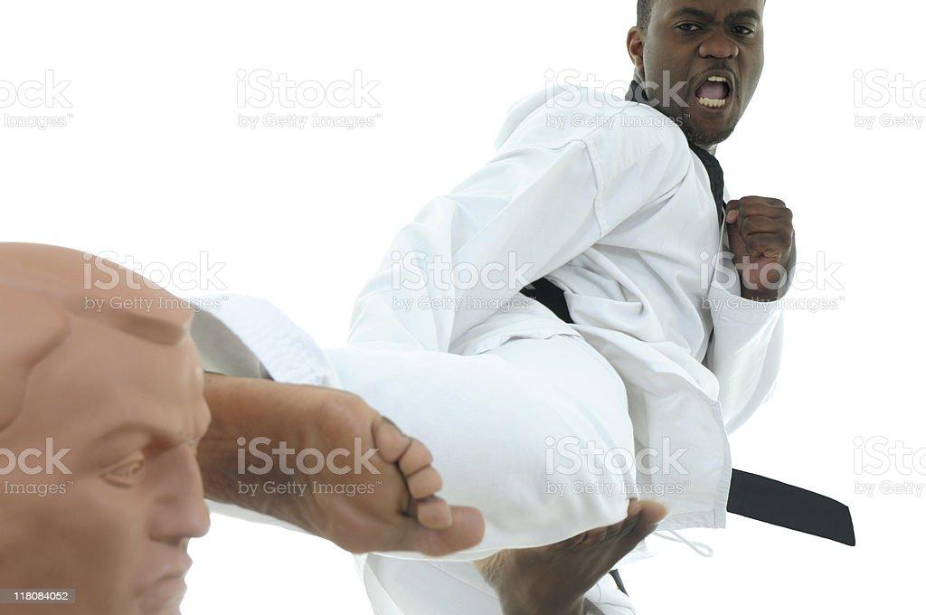 Tae Kwon Do techniques stock photo