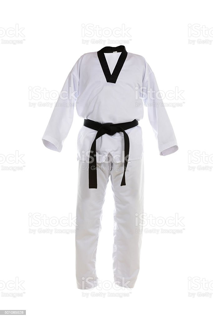 Tae Kwon Do Uniform stock photo