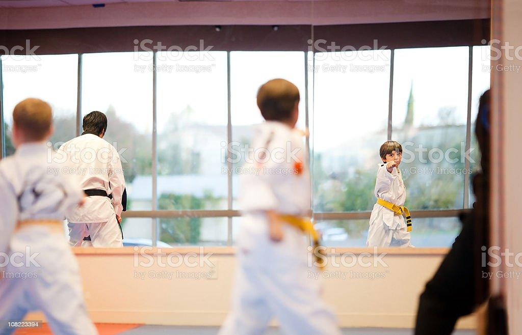 Tae Kwon-Do Practice stock photo