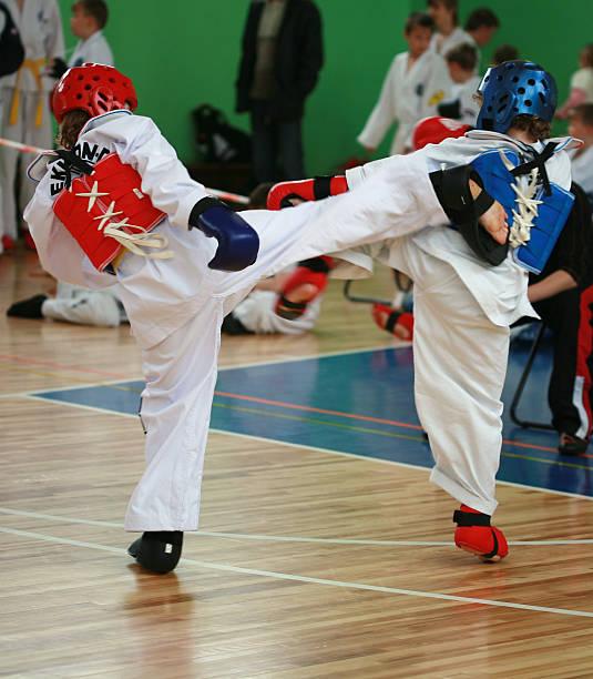 taekwando - taekwondo stock-fotos und bilder