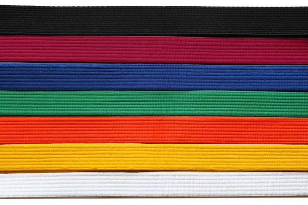 Taekwondo Belts stock photo