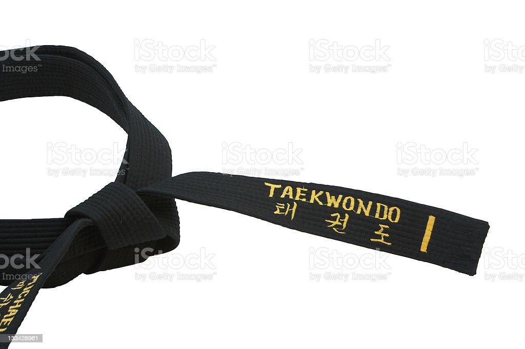 Taekwondo black belt royalty-free stock photo