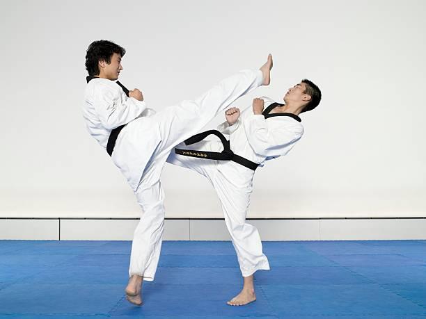 taekwondo - taekwondo stock-fotos und bilder