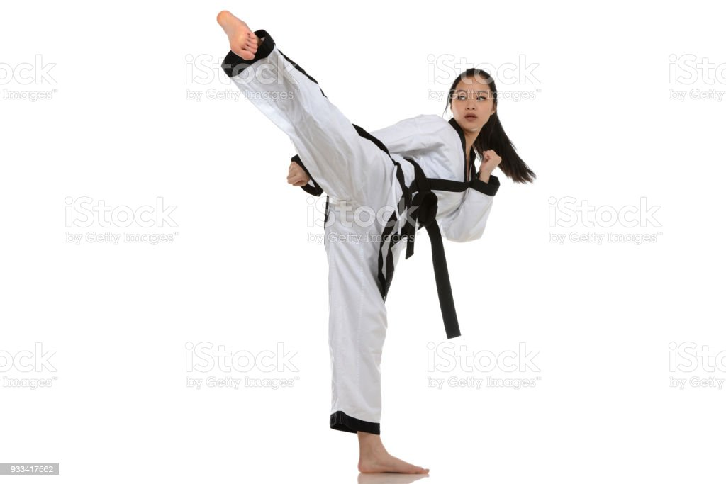 Taekwondo Side Kick royalty-free stock photo
