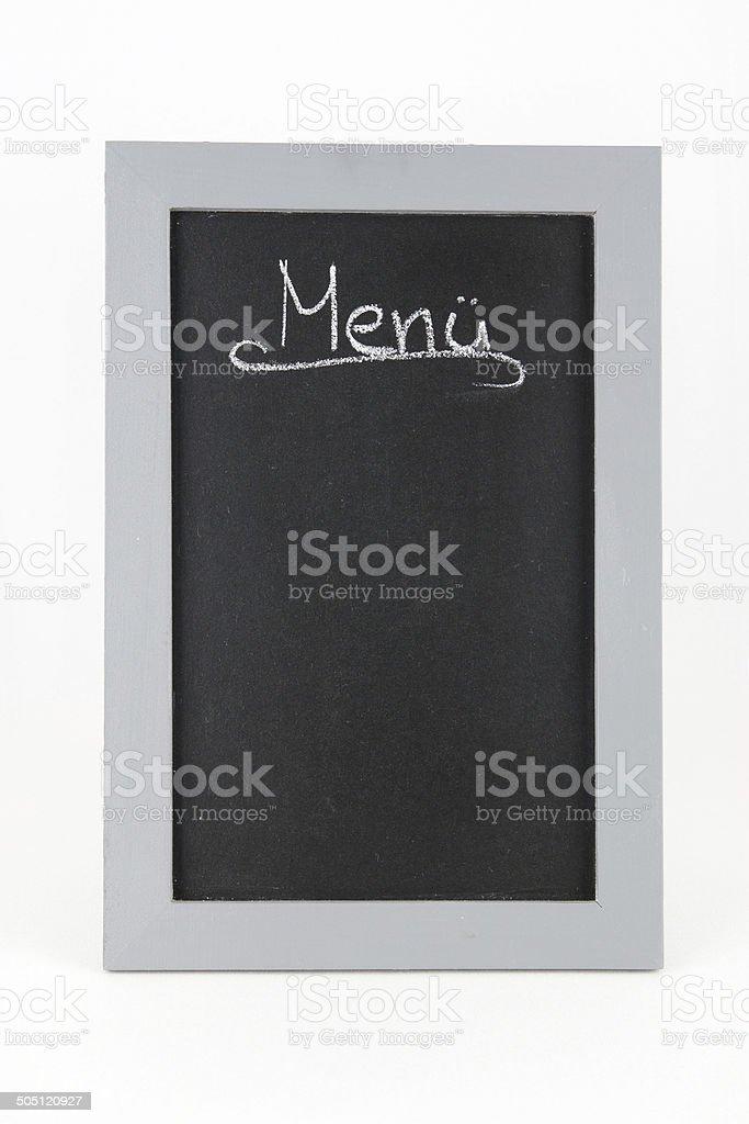 Tafel Menue stock photo