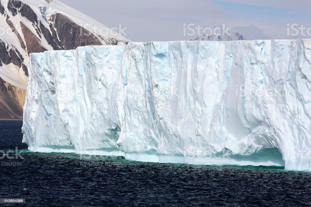Tafeleisberg-Antarktis stock photo