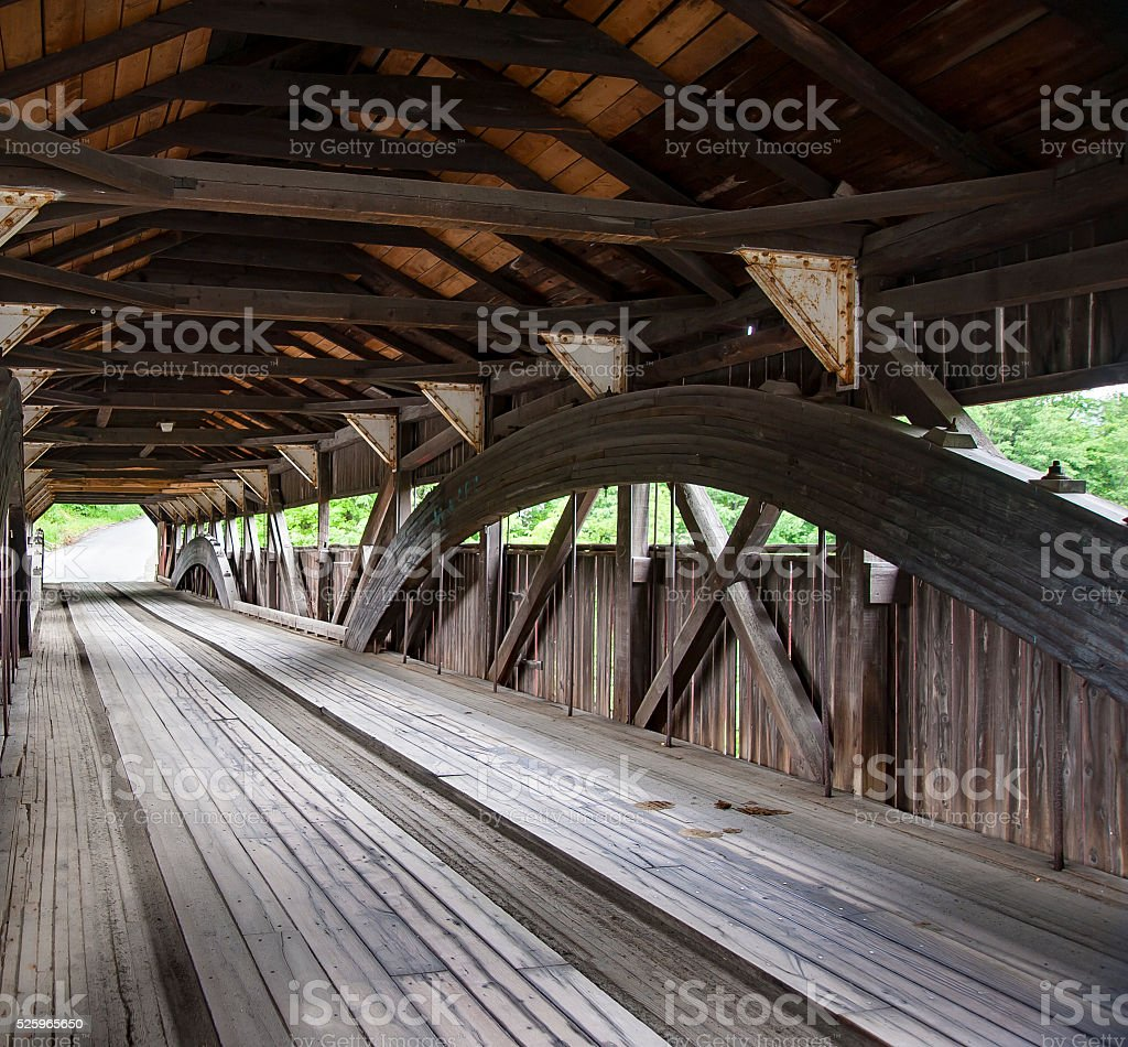 Taftsville Bridge before reconstruction stock photo