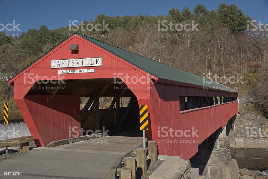 Taftsville Covered Bridge stock photo