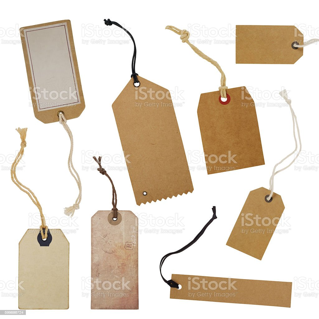 Tag collection stock photo