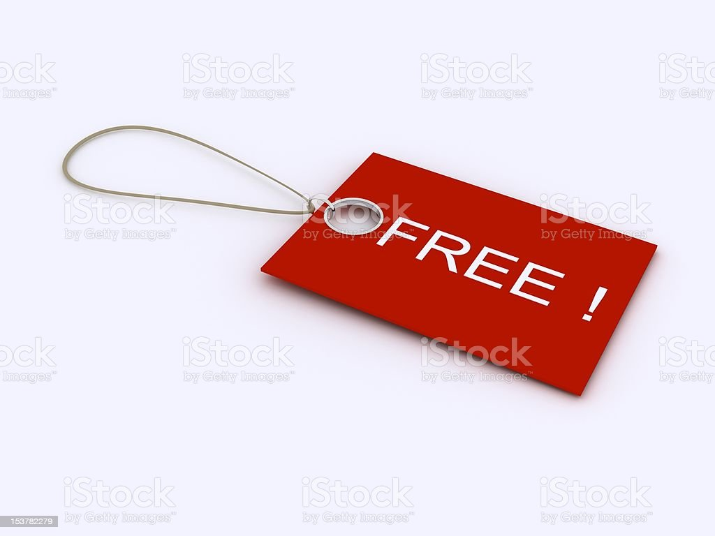 Tag for free offerings royalty-free stock photo