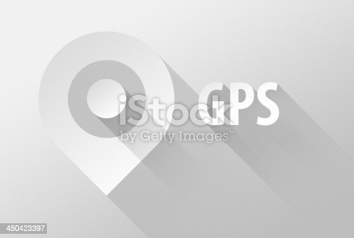 istock GPS tag location pin icon and widget 3d 450423397