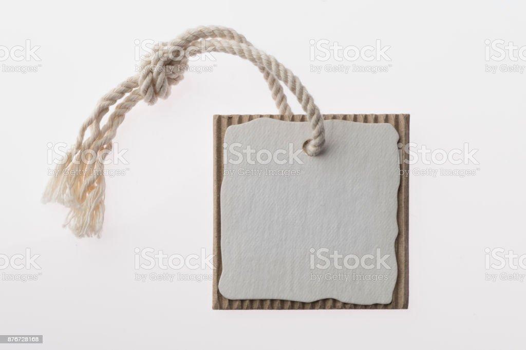 Tag on white background stock photo