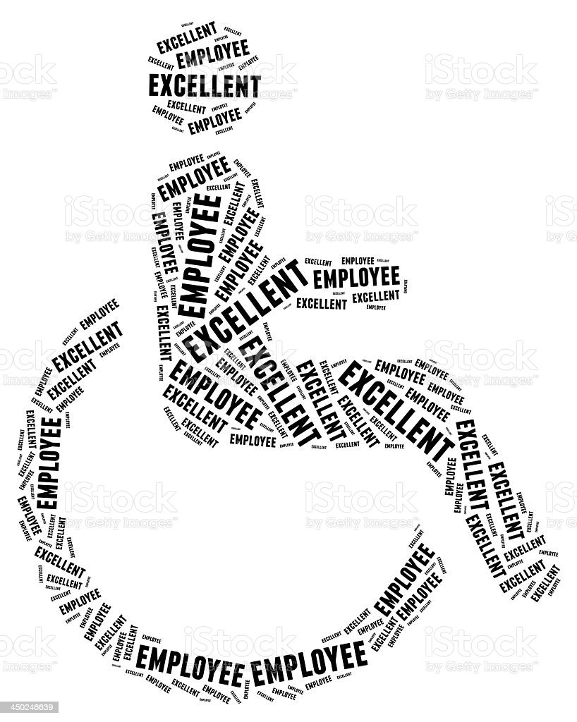 Tag or word cloud disability related royalty-free stock photo