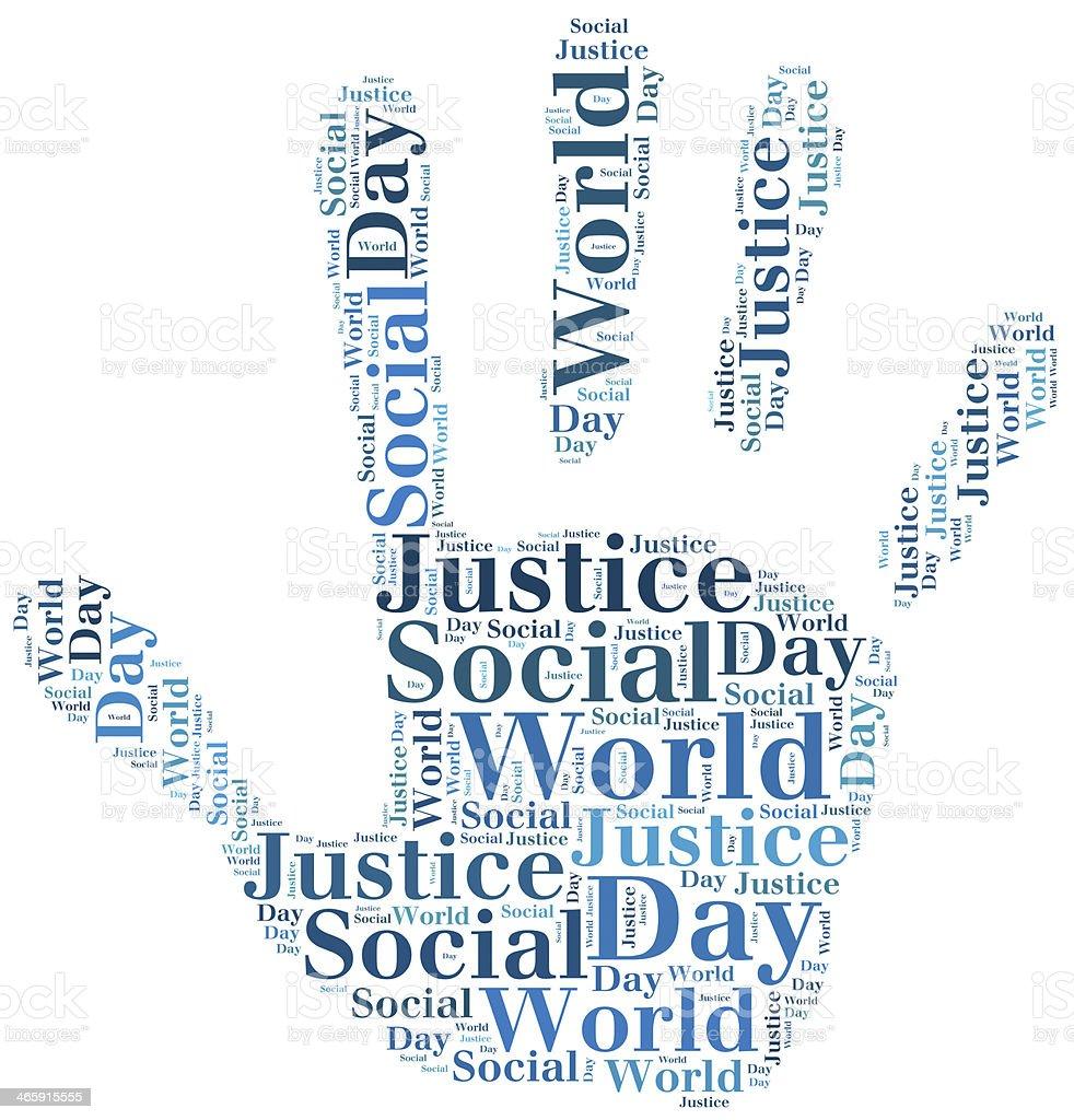 Tag Oder Wort Wolke Welt Tag Der Sozialen Gerechtigkeit Mit