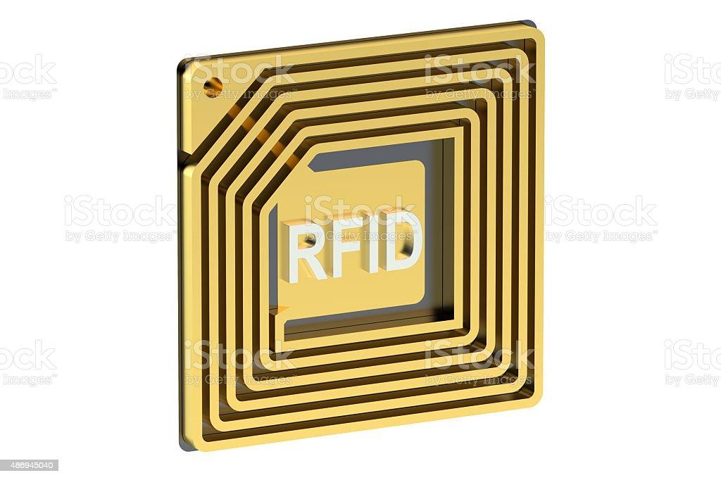 RFID tag stock photo