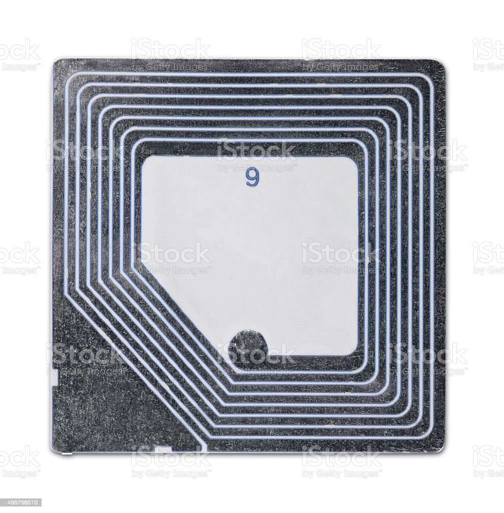 RFID tag stock photo