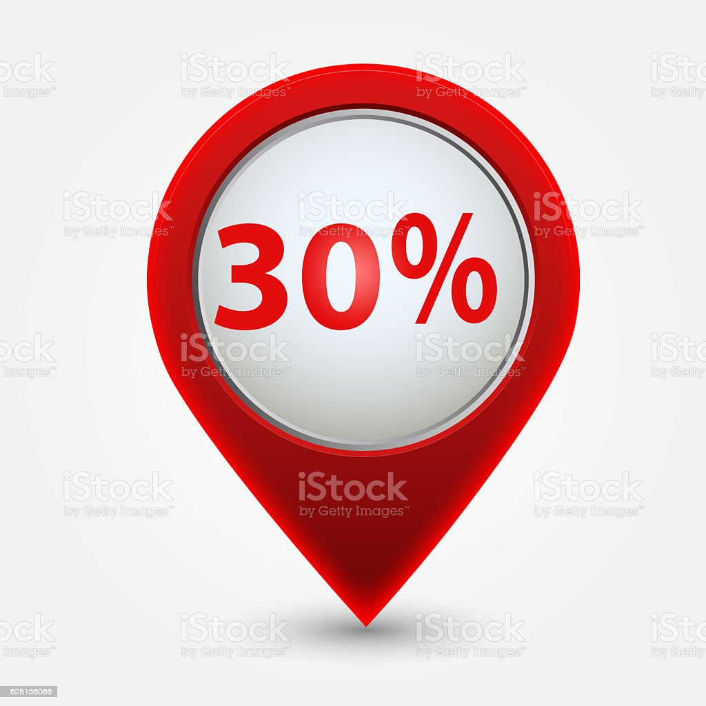 Tag showing 30 % stock photo