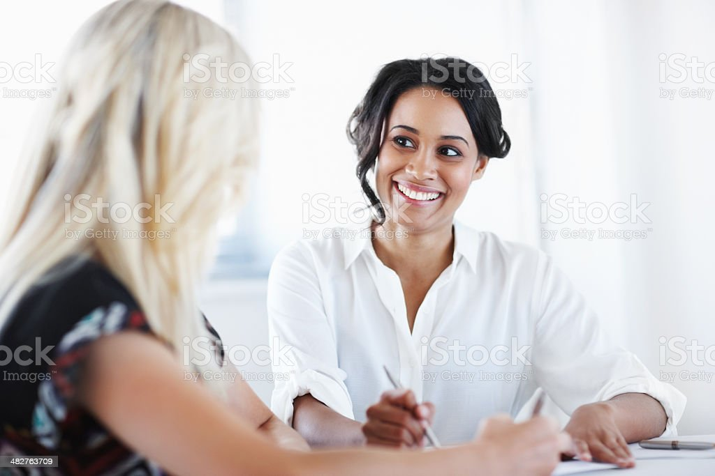 Tag teaming the task royalty-free stock photo