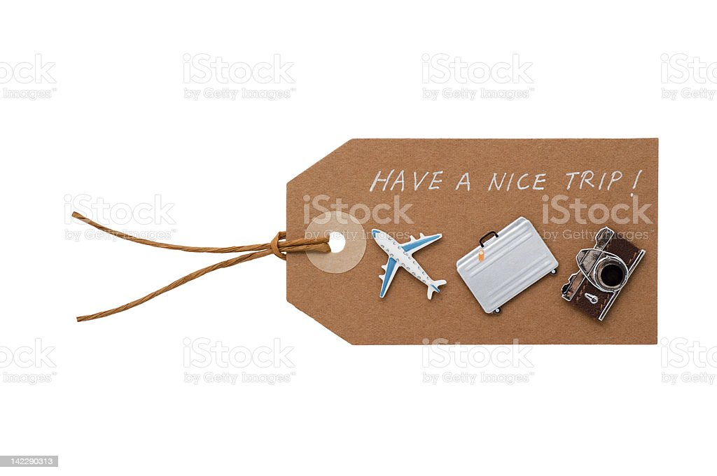 Tag with a message - Have a nice trip! stock photo