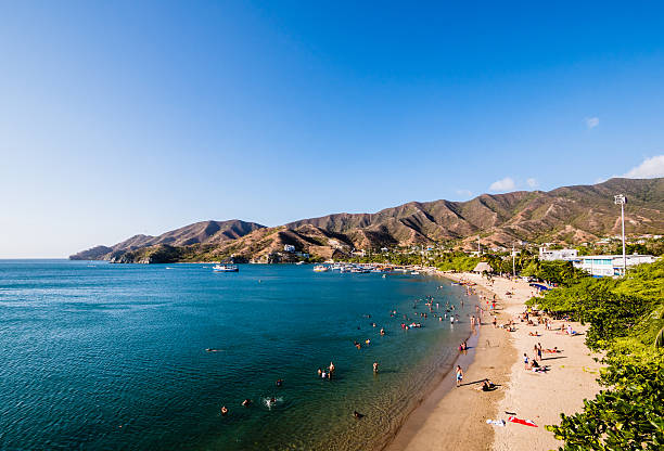 Taganga Beach in Santa Marta, Colombia