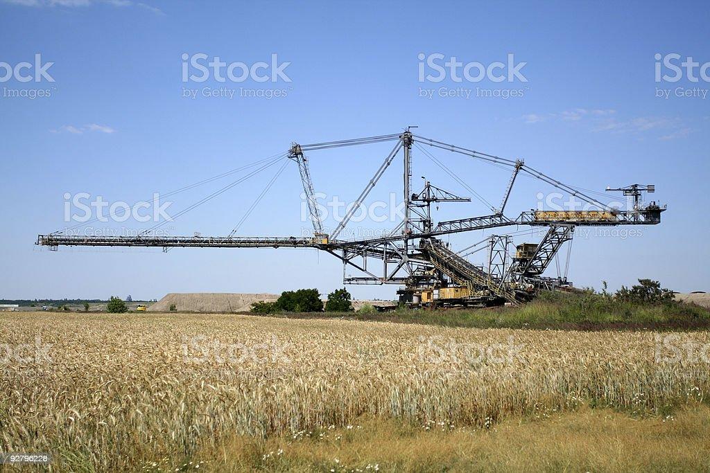 Tagebaubagger stock photo