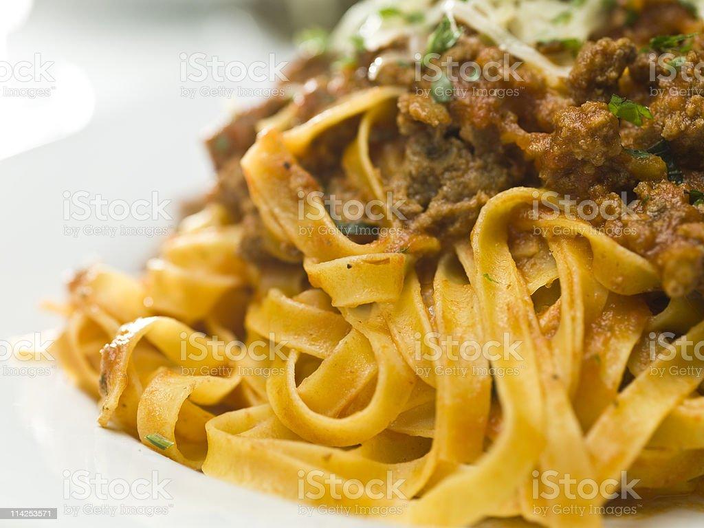 Tagliatelle Bolognese stock photo