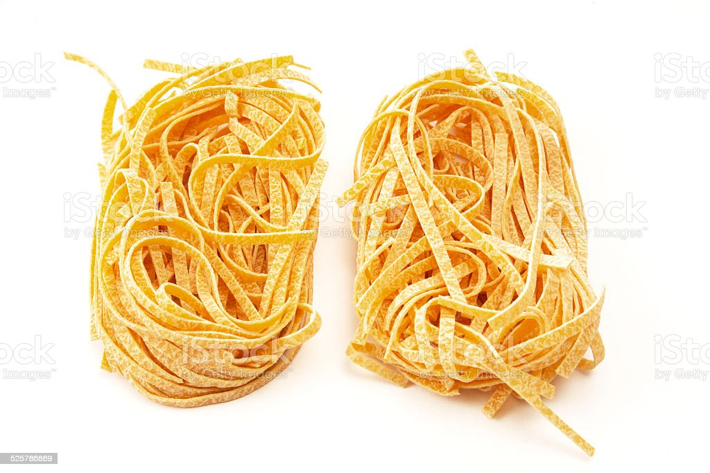 Tagliatelle, italian pasta stock photo
