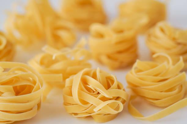 Tagliatelle. Pasta.Food background stock photo