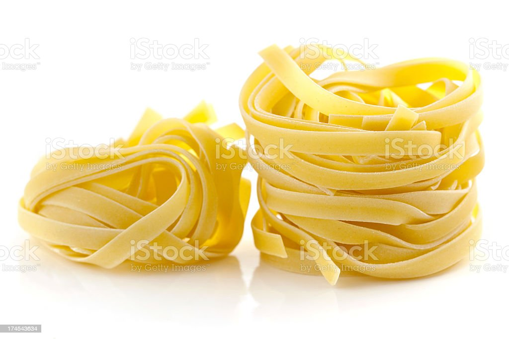 Tagliatelle Portions royalty-free stock photo