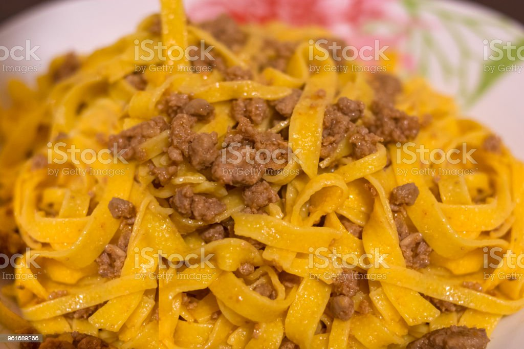 Tagliatelle with Bolognese sauce royalty-free stock photo