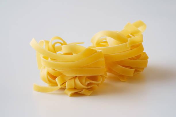 Tagliatelle.Pasta.Macro.Food background stock photo