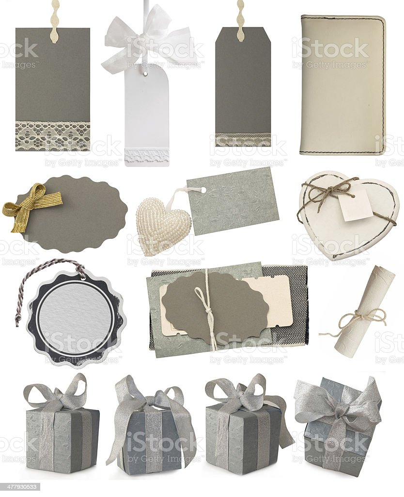 tags and gifts collection royalty-free stock photo