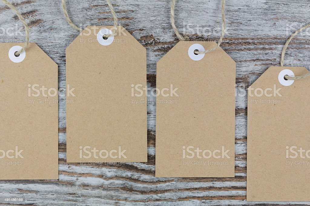 Tags for packaging stock photo