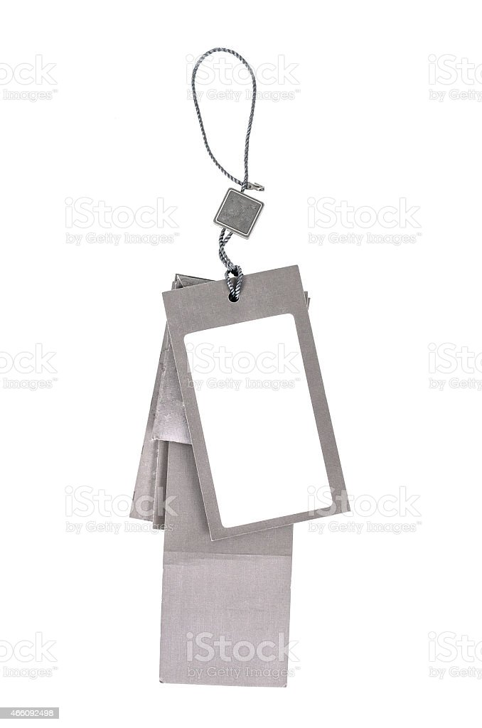 Tags or labels. stock photo