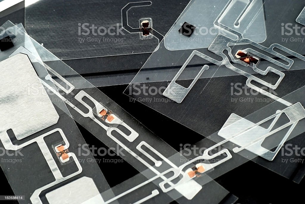 RFID tags royalty-free stock photo