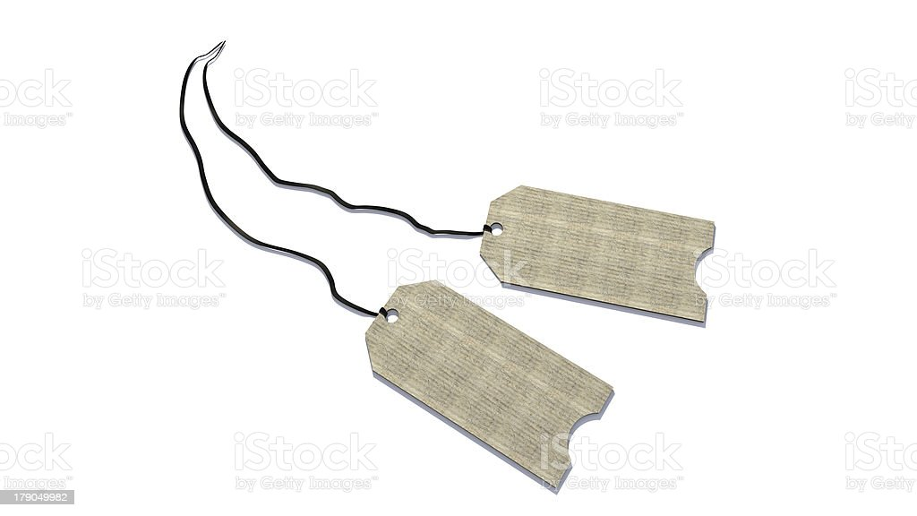 3D Tags royalty-free stock photo