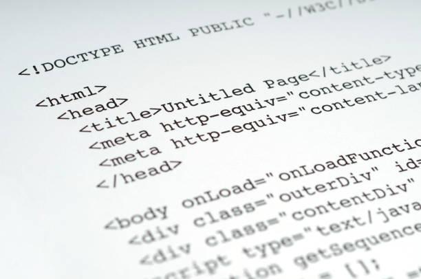 HTML Tags stock photo