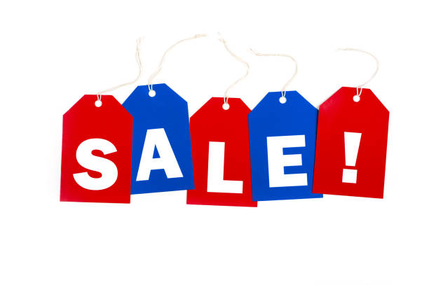 SALE tags stock photo