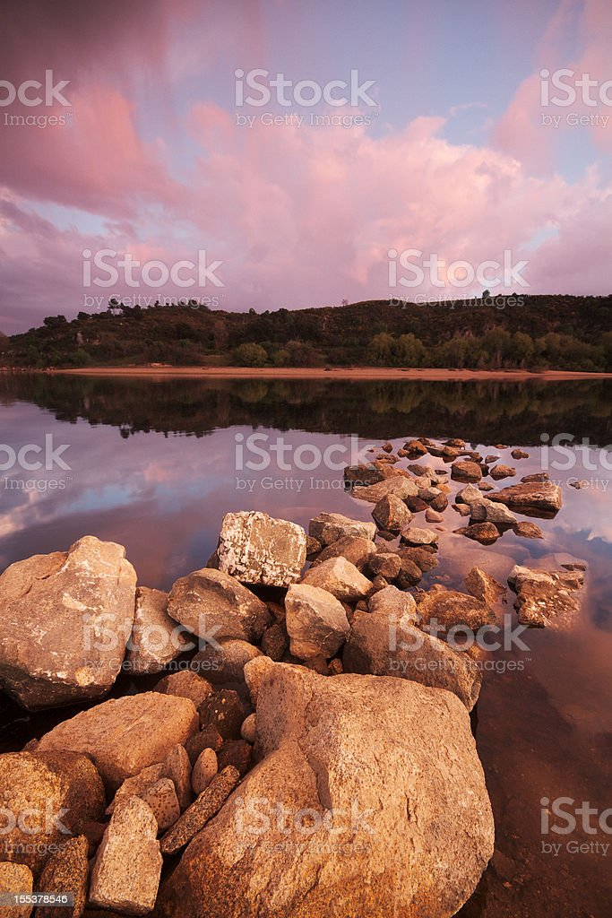 Tagus River at Sunset royalty-free stock photo